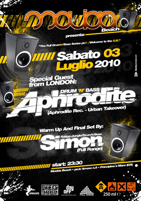 3 luglio 2010 - Aphrodite + Subaddiction VJ set @ movida beach Grosseto