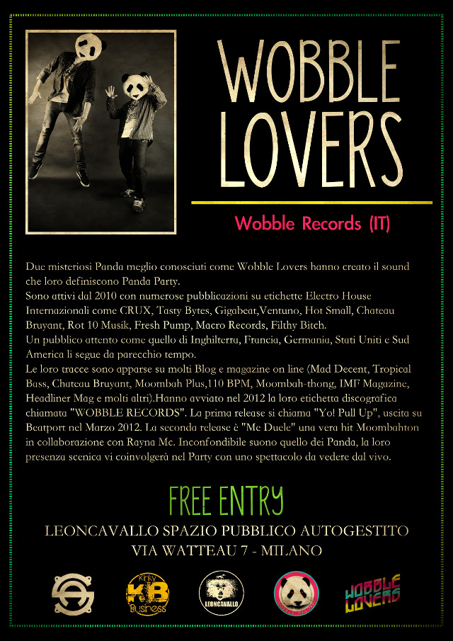 08-12-2012 - Wobble Lovers Live + Subaddiction VJ set @ Leoncavallo (Milano)