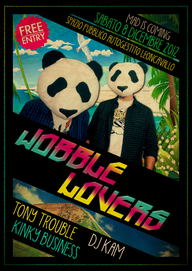 Wobble Lovers Live + Subaddiction VJ set @ Leoncavallo (Milano)