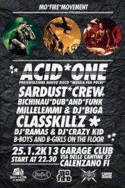 25 Gennaio 2013 – SARDUST CREW, ACID ONE, LASSKILLZ, MILLELEMMI, DJ BIGA – DJ RAMAS- DJ CRAZY KID
