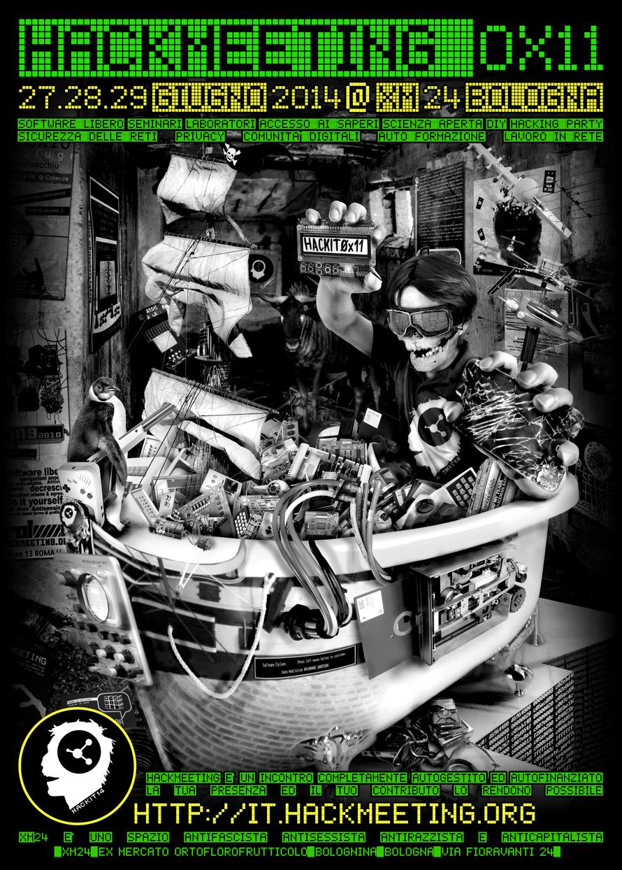 27-28-29 Giugno 2014 – Hackmeeting @ CSOA XM Bologna
